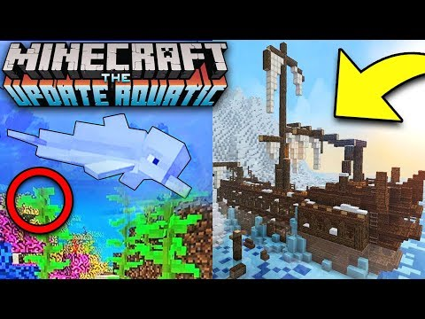 MINECRAFT OCEAN UPDATE GAMEPLAY! Aquatic Update 1.3 (Minecon Earth)