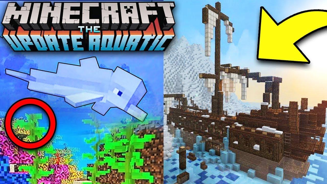 Minecraft Ocean Update Early Gameplay Aquatic Update 1 3