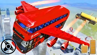 Flying Bus Driving Simulator 2019 - Free Bus Games | Android Gameplay