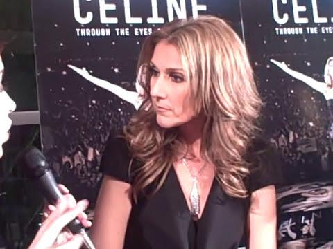 Celine Dion habla en el lanzamiento de su película con Oscar Pyzyk