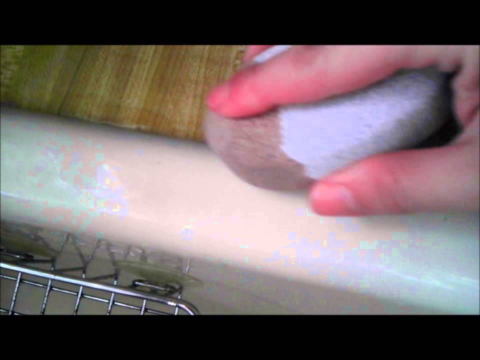 USE WHAT? To Remove Scuff Marks/Stains From A Porcelain Sink   YouTube