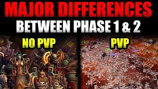 The Biggest Differences Between Phase 1 & 2 (No PvP System to PvP Warzone)