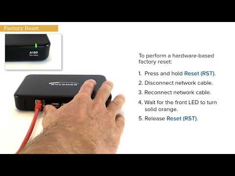 Performing a Factory Reset on the Thin Client - YouTube