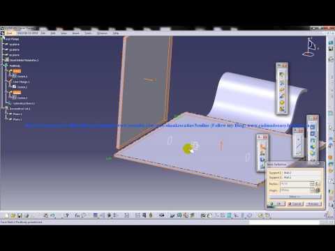 catia-v5-tutorial creating-cylindrical-bend sheetmetal-workbench