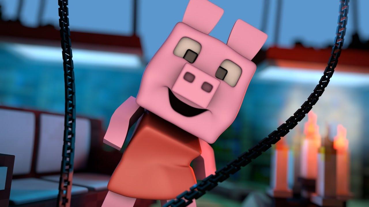 PEPPA PIG ENTRA EN CASA  PEPPA PIG EN MINECRAFT  YouTube