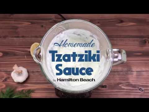 Homemade Tzatziki Sauce in a Blender - Make it with Hamilton Beach