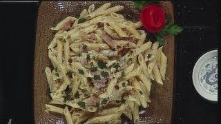 Penne With Prosciutto, Sage And Goat Cheese Cream Sauce