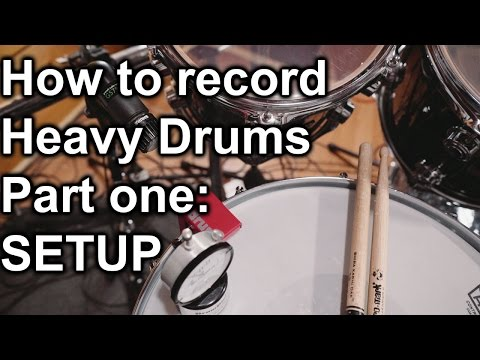 How to Record Heavy Drums Part One - SETUP | SpectreSoundStudios TUTORIAL
