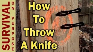 Knife Throwing For Begiฑners - How To Throw A Knife