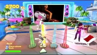 Dance Paradise 720P gameplay Akon (Bellydancer / Bananza) Xbox 360 Kinect