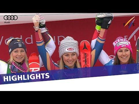 Shiffrin dominates slalom in Kranjska Gora for 40th career win | Highlights