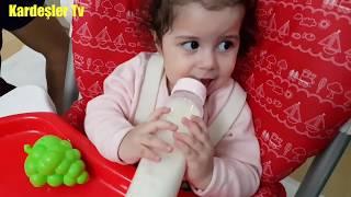 YAPRAK Bebek Ve Yağmur Biberondan Süt İcti.KARDEŞLER TV