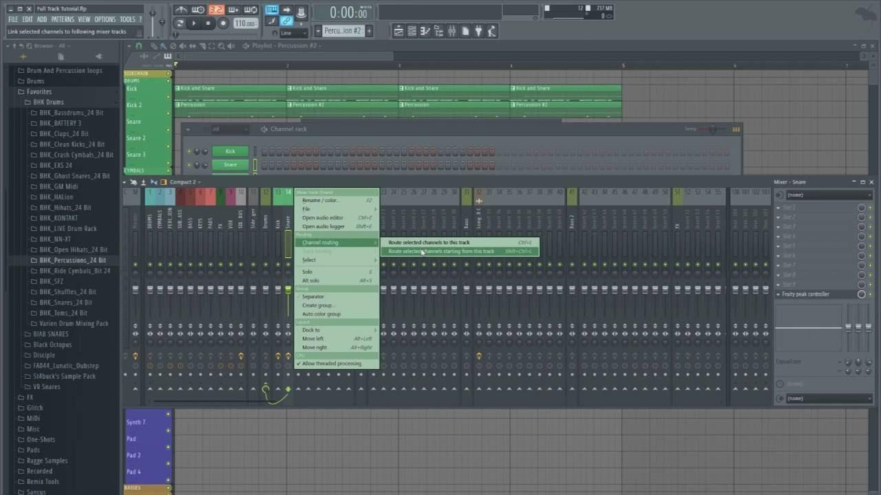 FL STUDIO 12 TUTORIAL | Glitch-Hop For Beginners (The Drum Beat)