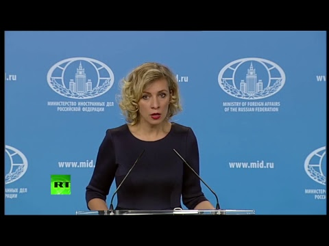 Russian FM spokesperson Zakharova holds weekly briefing (streamed live)