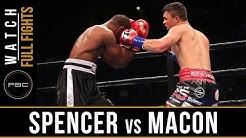 Spencer vs Macon Full Fight: September 30, 2018 - PBC on FS1