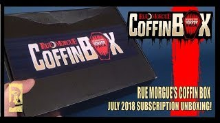 Subscription Spot | Horror Pack Rue Morgue Coffin Box July 2018 Subscription UNBOXING!