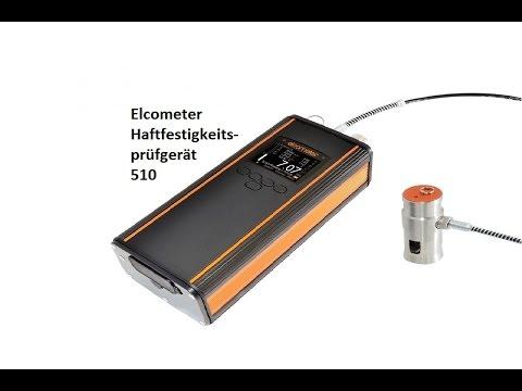 Elcometer 510 Automatisches Haftfestigkeitsprüfgerät gemäß ISO 4624 --www.elcometer.de--
