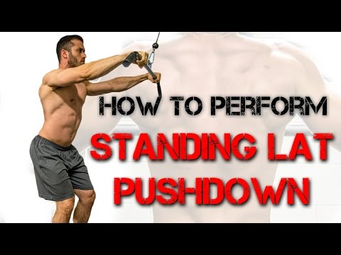 How to Perform the Standing Lat Pushdown (Straight Arm Cable)