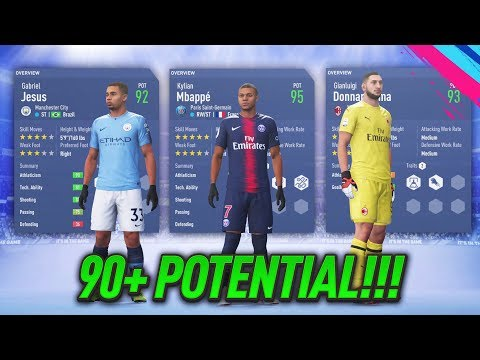 FIFA 19 CAREER MODE - ALL PLAYERS WITH 90+ POTENTIAL!!!