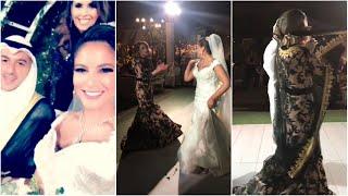 رقص بيبي عبد المحسن بحفل زفافها مع نهى نبيل