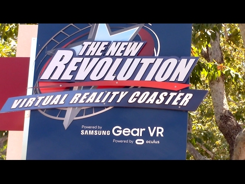 The New Revolution Review Six Flags Magic Mountain Classic Looping Coaster
