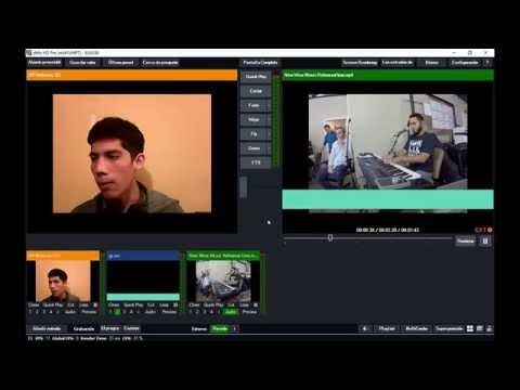 Mezcla De Video En Vivo Para Proyectar O Transmitir Por Internet.