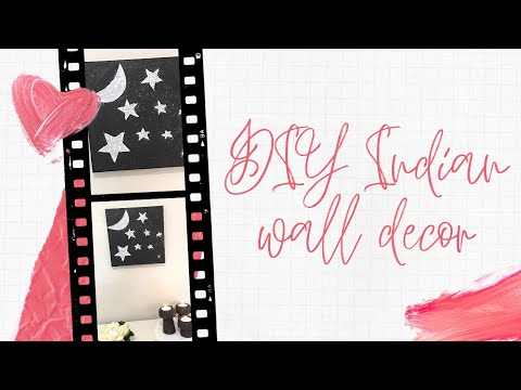 Indian wall decor DIY | Indian wall painting | Make this easy wall art with kids | home decore DIY