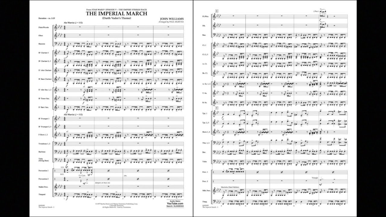 The Imperial March (Darth Vader's Theme) by John Williams/arr  Paul Murtha