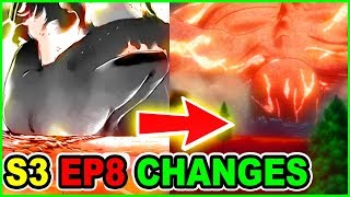 THICC 120M ROD TURKEY TITAN UPGRADED | ALL MAJOR CUTS & CHANGES | Attack on Titan Season 3 Episode 8