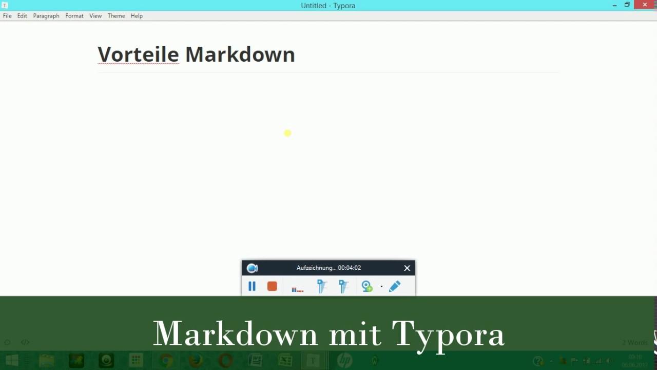 Markdown-Editor Typora als Alternative zu Word & Co