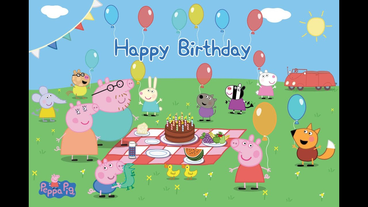 Gallery For gt Happy Birthday Peppa Pig