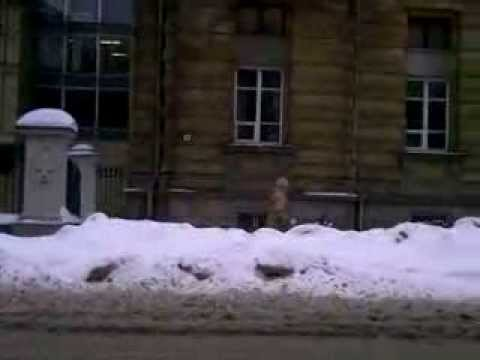 Weather in Vilnius, Lithuania, 2010-02-18, minus 4 from Oras TV