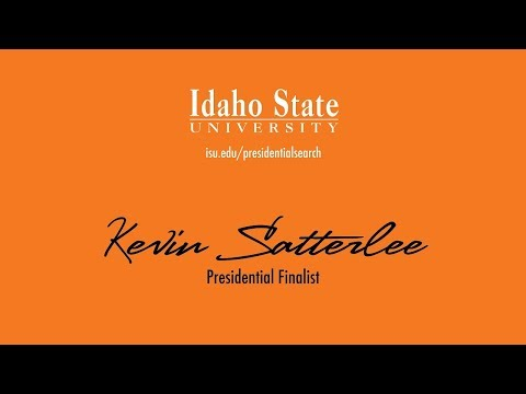Kevin Satterlee - Presidential Finalist - Faculty and Staff Forum