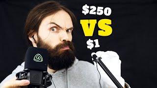 Download $1 Microphone Vs $250 Microphone ASMR (almost 100 triggers | 20 minutes) Mp3 and Videos