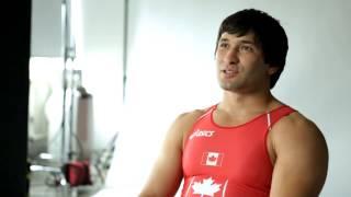Осетин Хетаг Плиев  выступает за Канаду по вольной борьбе