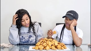 100 CHICKEN NUGGETS IN 10 MINUTES CHALLENGE!!!
