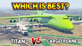 GTA 5 ONLINE : TITAN VS CARGO PLANE (WHICH IS BEST?)