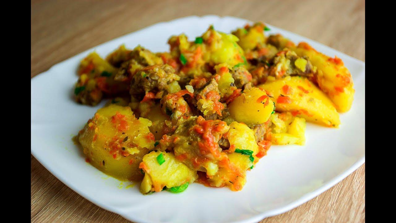 Картошка с Говядиной в Мультиварке|Запеченная Картошка с Мясом в Мультиварке Скороварке