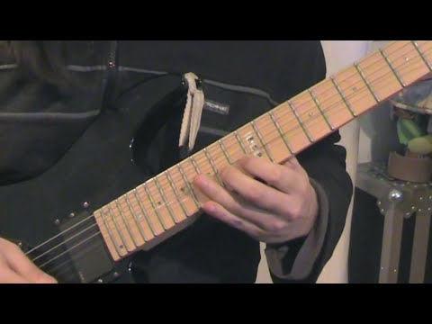 Iron Maiden - Wasted Years Solo Cover + Riff + Backing | ウエイステッド・イヤーズ