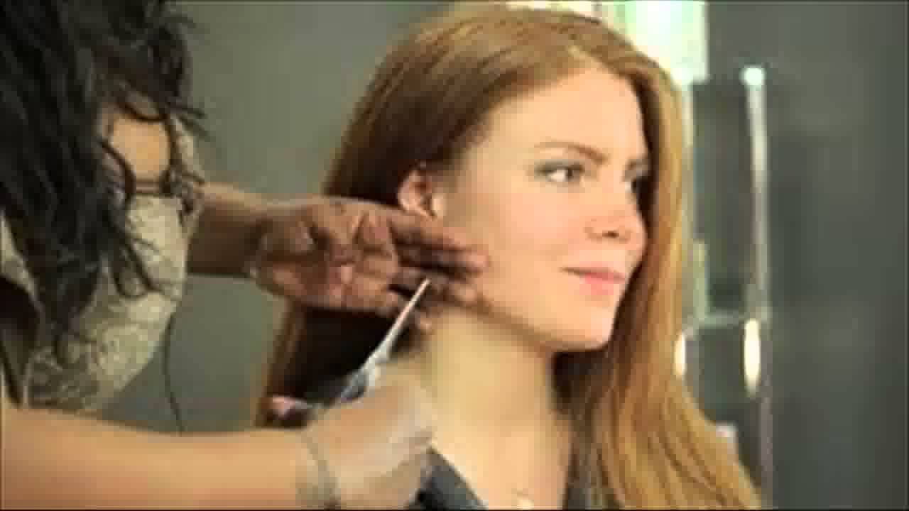 how to cut wispy sideburns for women youtube
