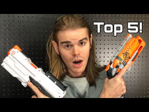 NERF TOP 5 BEST Nerf PISTOLS Of All Time!