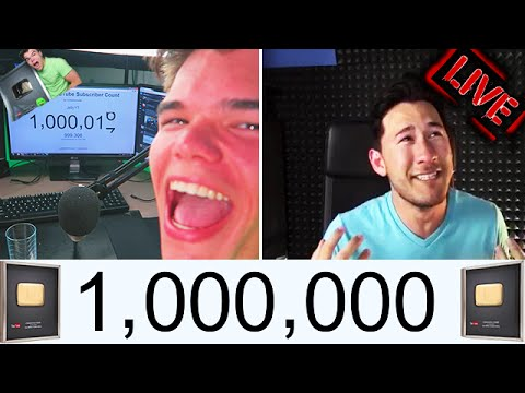 Youtubers Hitting One Million Subscribers Live Reactions Compilation!! Mp3