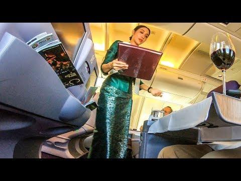 Thai Airways 747-400 Upper Deck Business Class SYD-BKK