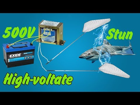 12V to 500V hight volt inverter STUN FISH SHOCK simply | How to make