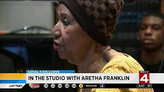 In the studio with Aretha Franklin