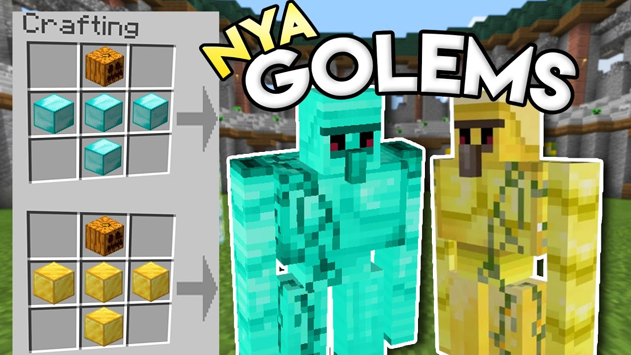 Download Coola Golems i Minecraft!! 💎😍