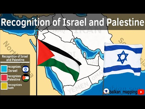 Recognition of Israel and Palestine in the world