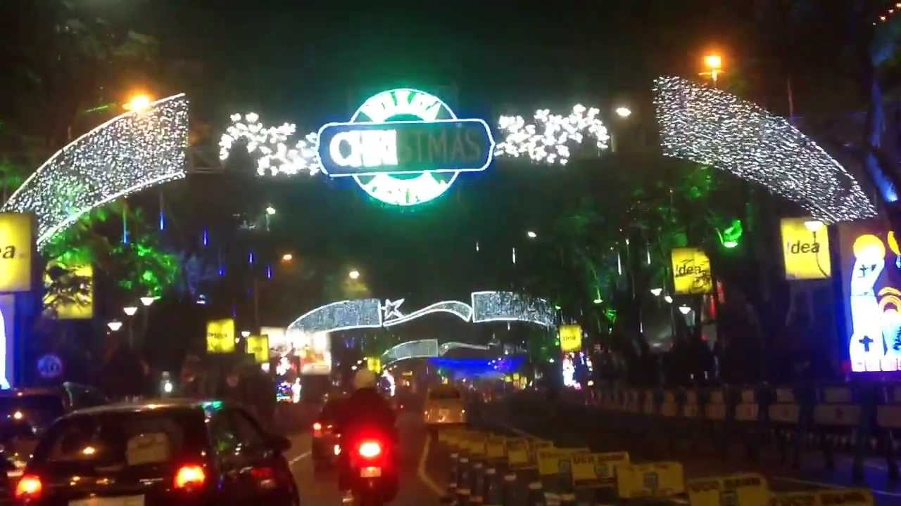 christmas and new year celebration in park street kolkata india during christmas festival
