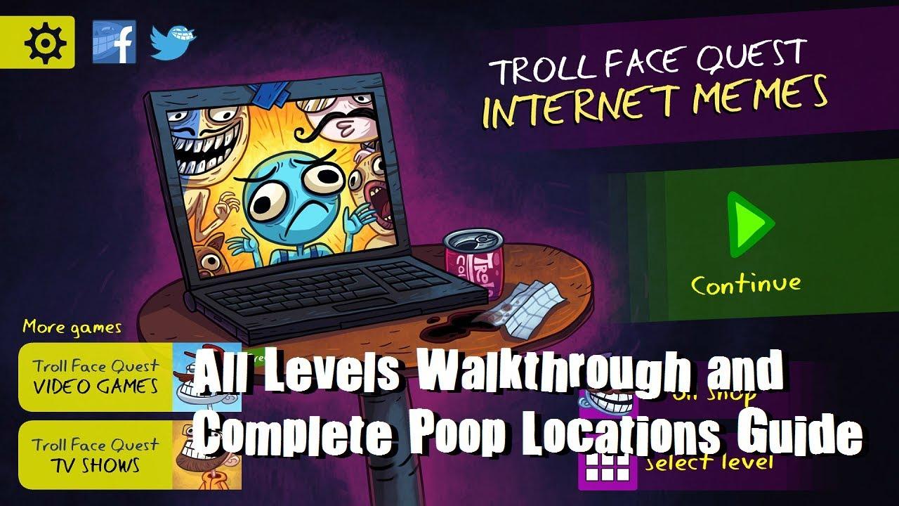 maxresdefault troll face internet memes levels 1 35 walkthrough complete poop