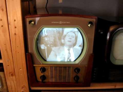 Vintage Television X: General Electrics Locomotive style TV set